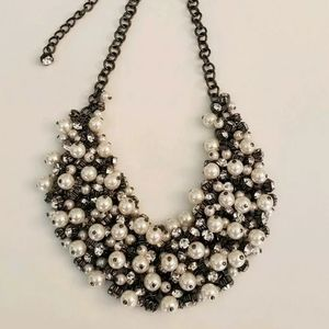 Premier Jewelry Statement Necklace Black, Pearls